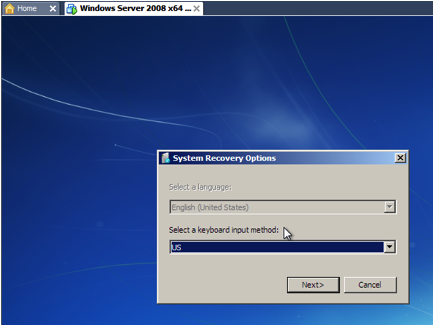VMWare New VM Booting from Win7 CD.png