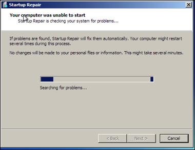 VMWare Win7 Recovery Disk Setup repair.png